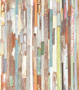 rasch tapete new age 319919 rasch textil holzwand bunt. Black Bedroom Furniture Sets. Home Design Ideas