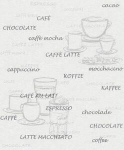 rasch vlies tapete aqua deco 2013 grau creme k che kaffee cafe schrift tasse ebay. Black Bedroom Furniture Sets. Home Design Ideas