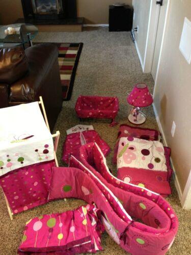 Raspberry Swirl 9 Piece Baby Crib Bedding Set with Bumper by Lambs & Ivy in Baby, Nursery Bedding, Crib Bedding | eBay