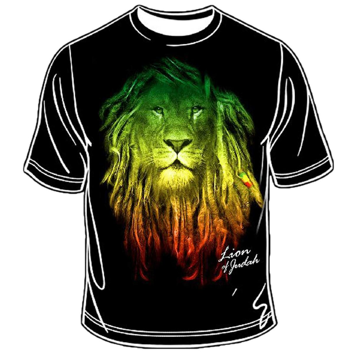 Rastafari Lion of Judah Rasta T Shirt Reggae Jamaica Marley Selassie