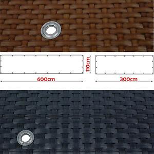 Rattan sichtschutz 3 6m breit sichtschutzzaun for Wohnlandschaft 3 00 meter breit