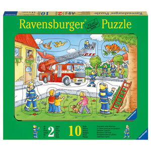ravensburger 10 t puzzle 036592 rahmenpuzzle feuerwehr. Black Bedroom Furniture Sets. Home Design Ideas