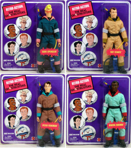 Real Ghostbusters SET OF 4 Retro-Action figures EGON PETER RAY WINSTON Mattel in Toys & Hobbies, Action Figures, TV, Movie & Video Games | eBay