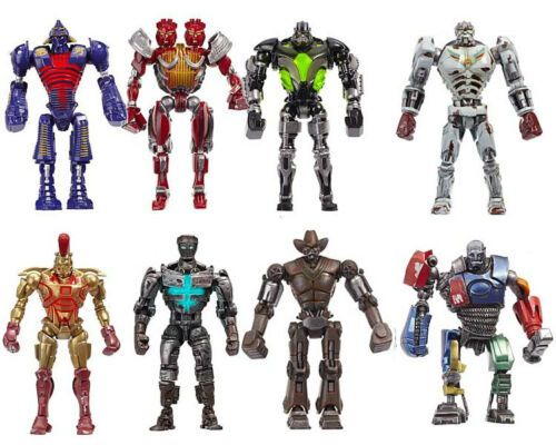 Real Steel Set Of 8 Figures Ambush Metro Six-Shooter Zeus Atom Midas Noisy Boy in Toys & Hobbies, Action Figures, TV, Movie & Video Games | eBay