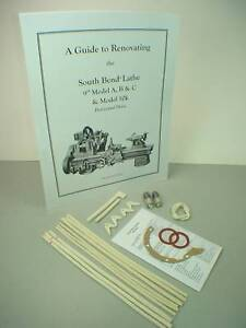"Rebuild Manual & Kit for 9"" South Bend Lathe - Model A in Business & Industrial, Manufacturing & Metalworking, Metalworking Tooling 