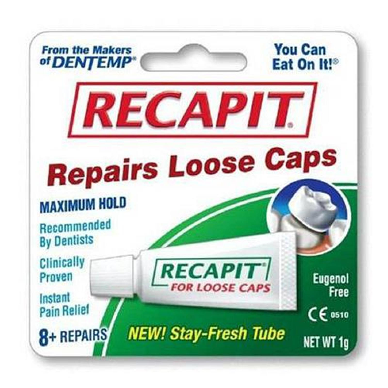 Recapit Dental Repair Cement For Loose Caps - Kit - eBay