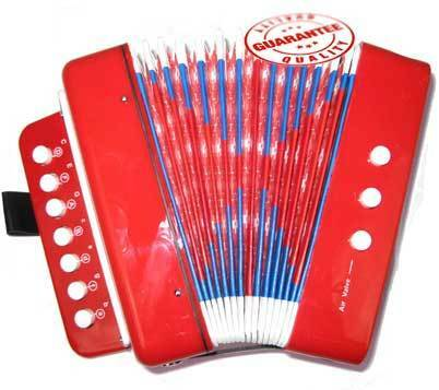 Red Accordion-Kids Musical Instrument Toy With 7 Buttons 2 Bass in Musical Instruments & Gear, Accordion & Concertina | eBay