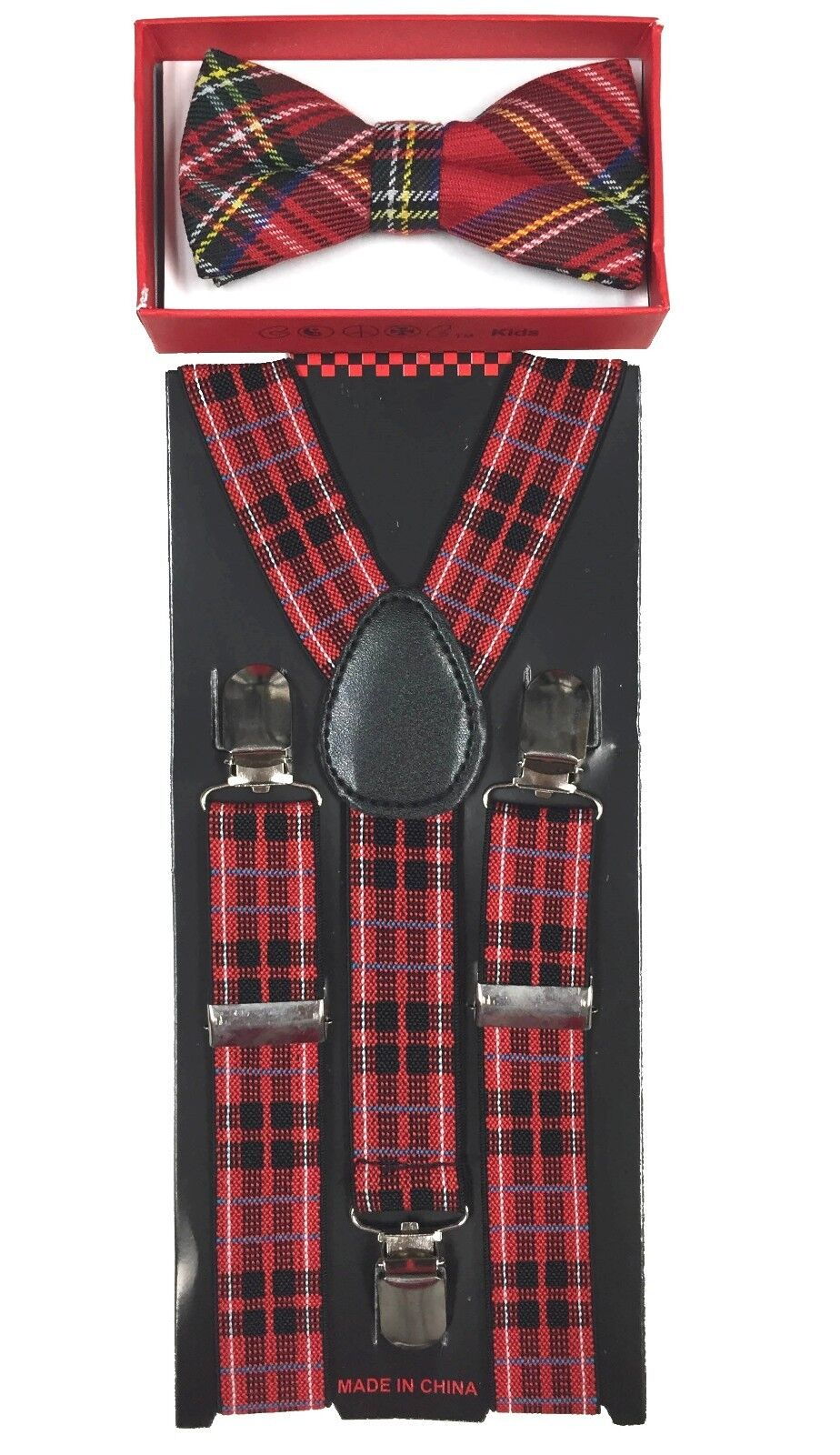 Red Black Stripe toddler bow tie and suspenders set - baby ...