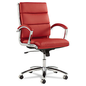 Office Chairs on Red Leather Computer Office Desk Chair With Padded Arms   Ebay