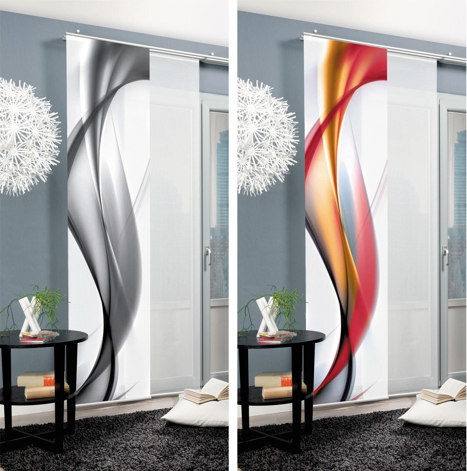 redfield welle graphisch schiebegardine raumteiler digital home wohnideen schmid ebay. Black Bedroom Furniture Sets. Home Design Ideas