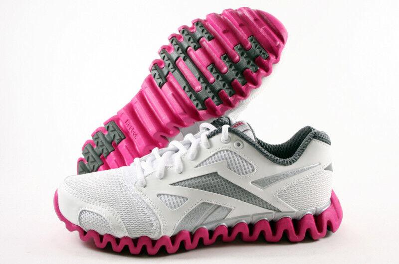 Reebok Womens ZigNano Fly 2 J84513 Wht Slv Gry Pink Sizes 6 5 thru ... 75b8f4d74