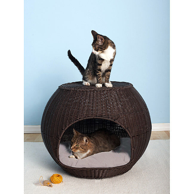 The Refined Canine Indoor Outdoor Cat Dog Pet Igloo Bed