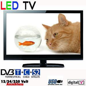 reflexion led 1940 tv fernseher 19 zoll 47 cm sat dvb s2 t c 12 24 230 volt ebay. Black Bedroom Furniture Sets. Home Design Ideas