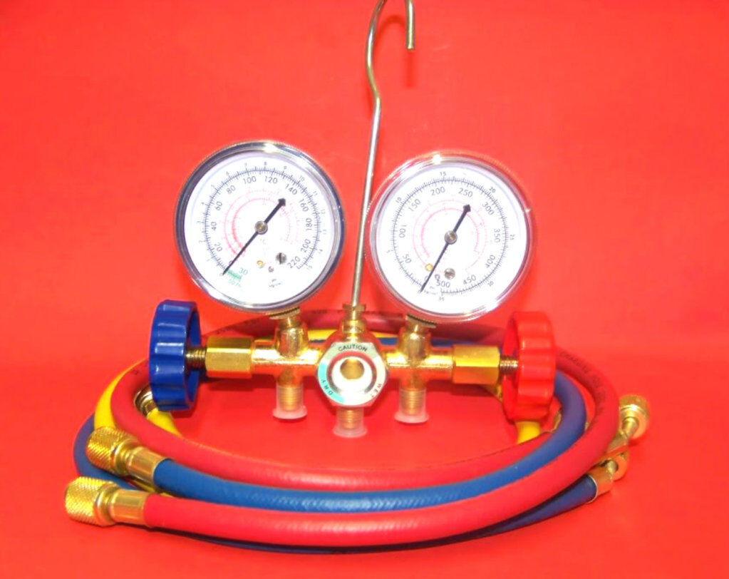 Refrigeration Air Conditioning AC Diagnostic Manifold Gauge Tool R12
