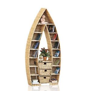 regal boot schiff wasserhyazinthe wandregal cd regal natur korb case 130 cm. Black Bedroom Furniture Sets. Home Design Ideas