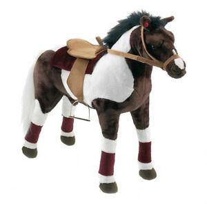 reitpferd cowboy pferd kinder pferd xl pl sch pferd sound 67 cm gro bis 100kg ebay. Black Bedroom Furniture Sets. Home Design Ideas