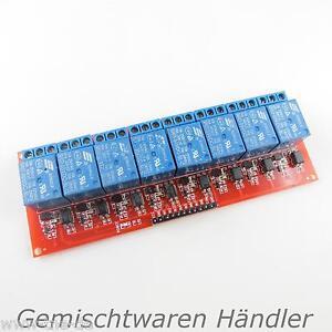 Relais-5V-8-Kanal-230V-10A-Relaiskarte-Relaisplatine-Arduino-AVR-230-V-5-V-Karte