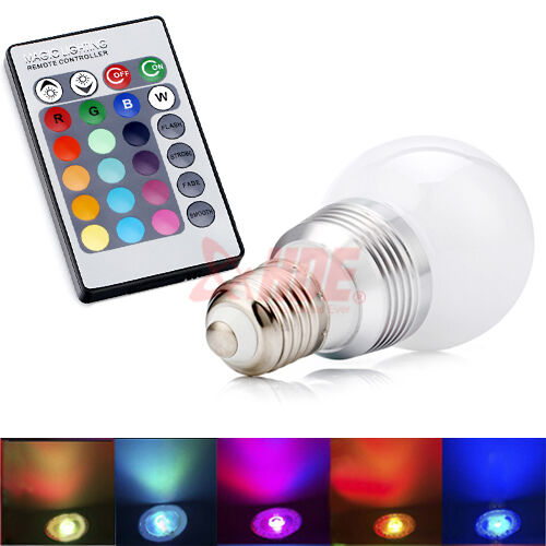 Remote Control Color Changing LED E27 Light Bulb Spot Light RGB 16 Color 5 Modes in Home & Garden, Lamps, Lighting & Ceiling Fans, Light Bulbs | eBay