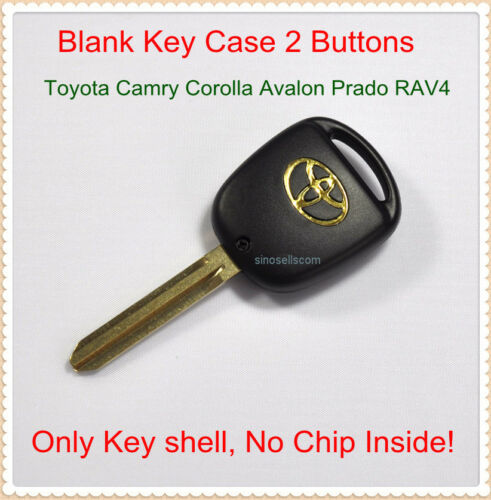 replacement blank remote key case for toyota camry prado rav4 fob shell 2 button ebay. Black Bedroom Furniture Sets. Home Design Ideas