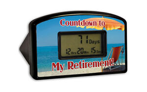 COUNTDOWN RETIREMENT CLOCKS - Clocks Online