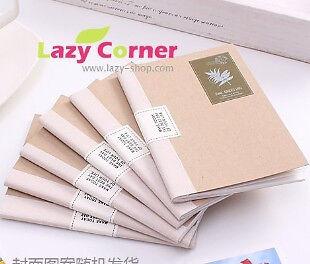 Retro Kraft Paper Stamp Pattern Notebook Notepad Memopad Diary Book Agenda 1pc in Books, Accessories, Blank Diaries & Journals | eBay