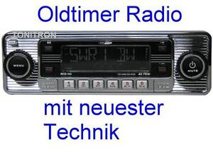 retro look radio altes autoradio chrom oldtimer mercedes. Black Bedroom Furniture Sets. Home Design Ideas