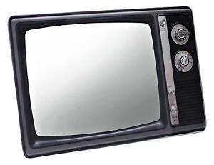 Retro spiegel im tv design tv mirror fernseh spiegel for Tv im spiegel