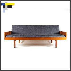Retro vintage danish modern design teak daybed sofa bed for Sofa bed 60s