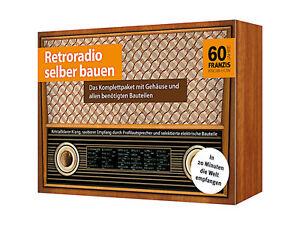 retroradio selber bauen komplettpaket mit mw radio ebay. Black Bedroom Furniture Sets. Home Design Ideas