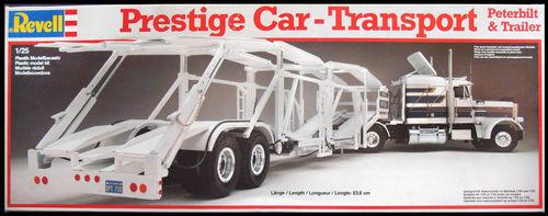 Revell Peterbilt Truck and Auto Transporter Trailer Model Kit New SEALED
