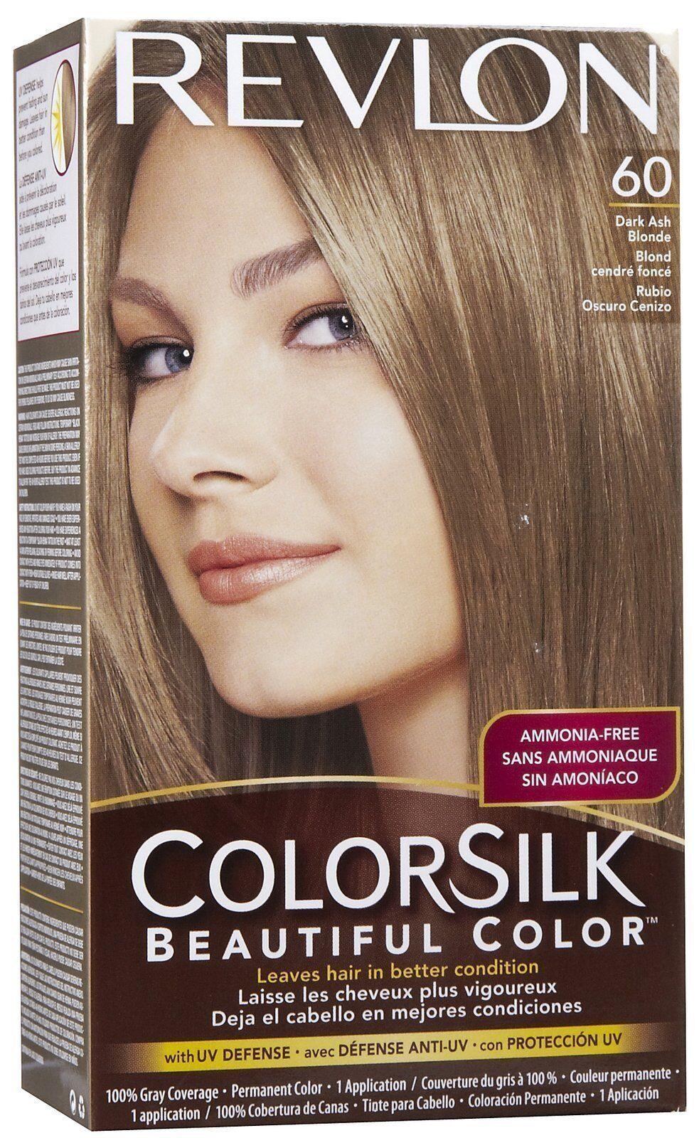 Details about Revlon Colorsilk Hair Color, Dark Ash Blonde #60 -1 Kit
