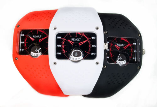 Revolt Beat Watch with Silicone Strap and Large Date Magnifier in Jewelry & Watches, Other | eBay