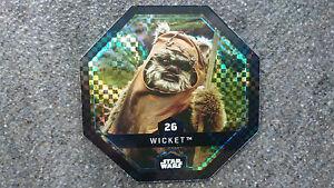 Rewe-Star-Wars-Cosmic-Shell-Glitzer-Nr-26-Wicket-Sammelbild-Raritaet
