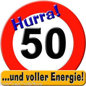 riesen schild stopschild hurra 50 50 geburtstag. Black Bedroom Furniture Sets. Home Design Ideas