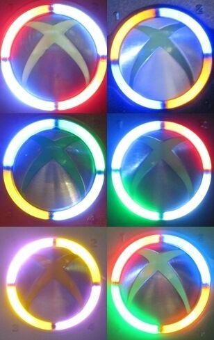 Ring of Light Mod Kit Rol Xbox 360 Controller 5 LEDs Free Extra L E D