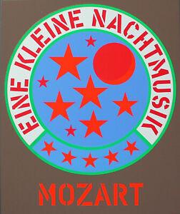 Robert INDIANA-Mozart. unsignierter colore SERIGRAFIA. domberger Stoccarda.