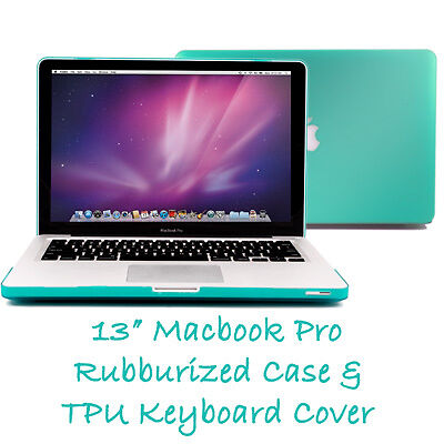 Robin Egg Blue Frosted See-Thru Macbook Pro 13 Hard Case+Clear Keyboard Cover in Computers/Tablets & Networking, Laptop & Desktop Accessories, Laptop Cases & Bags | eBay