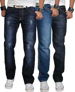 rock creek herren designer denim jeans hose used look. Black Bedroom Furniture Sets. Home Design Ideas