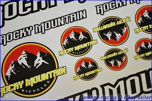 Rocky-Mountain-Bike-Cycle-Frame-Decals-Stickers-Kit-MTB-Super