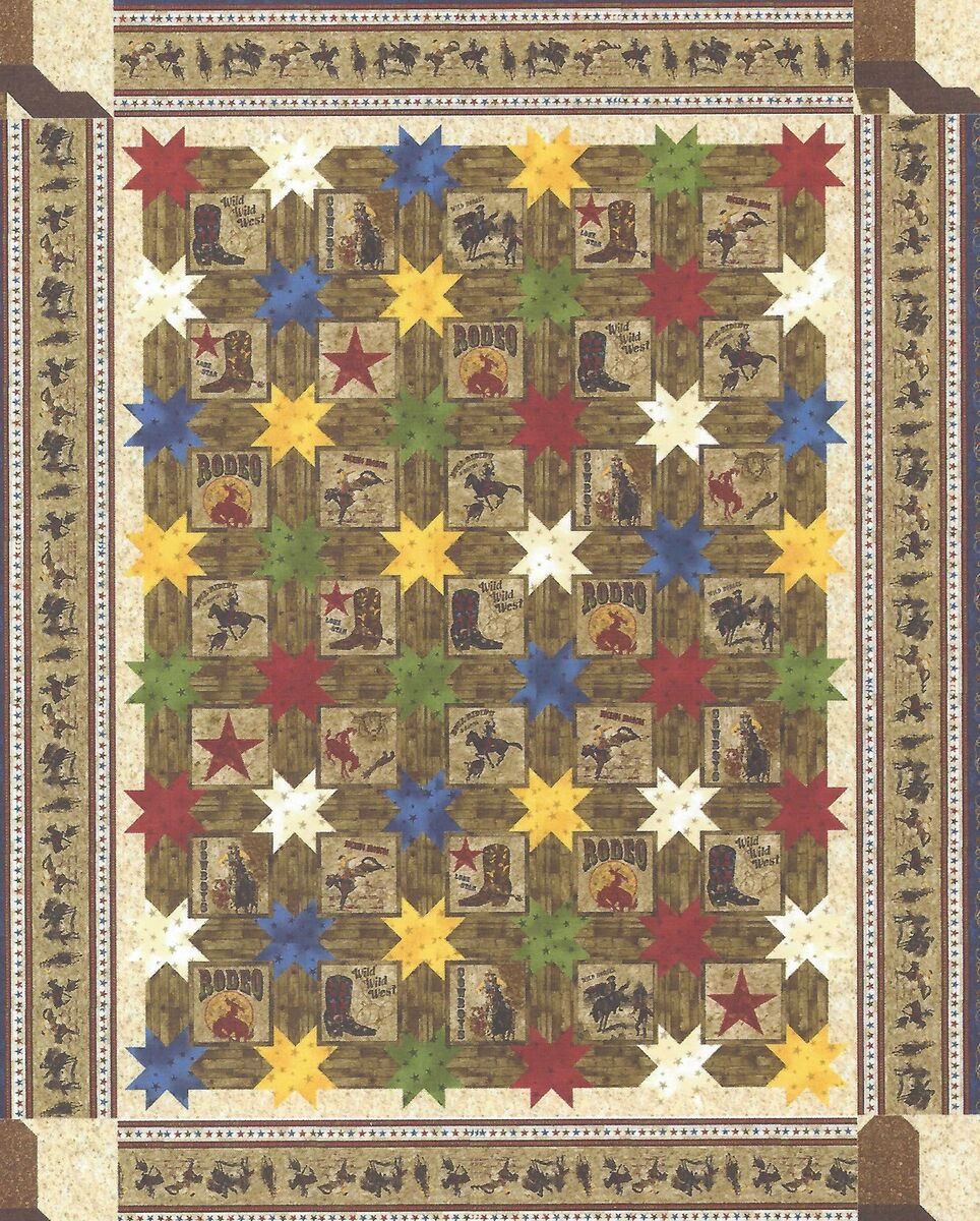 Rodeo Stars Quilt Pattern by Jackie Robinson of Animas Quilts on