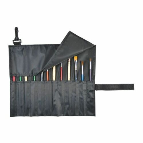 Roll Up -  PAINT BRUSH & Tool HOLDER Organizer Nylon  - Short Brushes