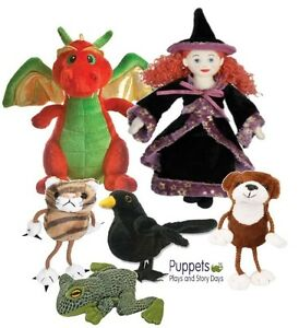 Room-On-The-Broom-Story-Witch-Dog-Cat-Frog-Bird-Puppet-Set-Dragon-Toy-3-4-Years