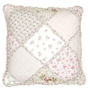 rosen kissen kissenbezug landhausstil clayre eef patchwork kissen 50 x 50 cm ebay. Black Bedroom Furniture Sets. Home Design Ideas