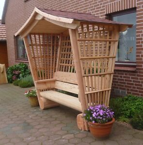 rosenbank gartenlaube aus l rchenholz gartenbank. Black Bedroom Furniture Sets. Home Design Ideas