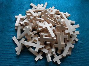 rosenkranz zubeh r material holzkreuz kreuz 100 st ck basteln neu ebay. Black Bedroom Furniture Sets. Home Design Ideas