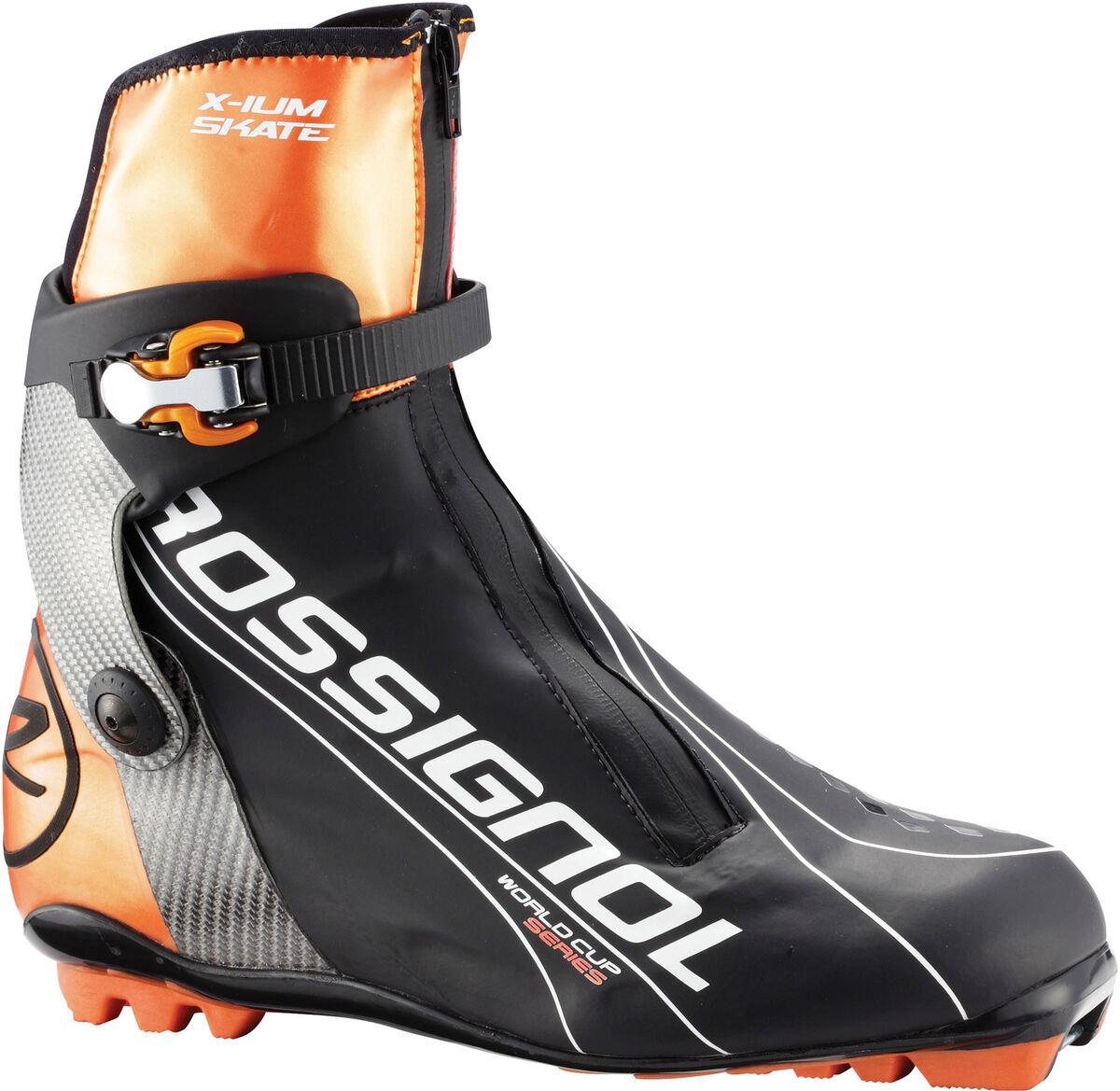 IUM World Cup Skate XC Cross Country Ski Boots Black Solar 42 0