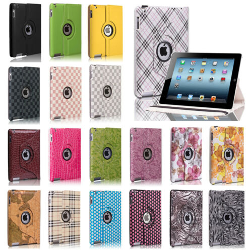 Rotating PU Leather Magnetic Case Smart Cover Stand For iPad 4 3 2 & iPad Mini in Computers/Tablets & Networking, iPad/Tablet/eBook Accessories, Cases, Covers, Keyboard Folios | eBay
