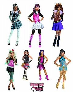 Rubies-Kinder-Kostuem-Peruecke-Monster-High-Gr-116-122-128-134-140-Karneval-NEU