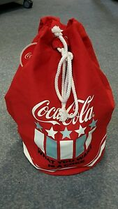 Rucksack-Coca-Cola-Matchsack-Beutel-Tasche-ROT-Coke-Americana-Neu