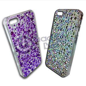 Rueckschale-Hart-Mit-Strass-Diamante-Fuer-Apple-Iphone-5-In-Silber-Oder-Violett